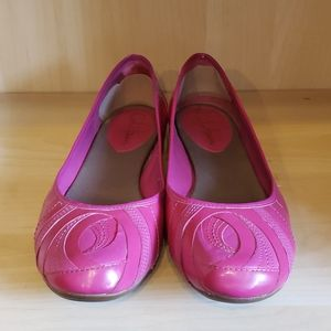 Cole haan nike air patent leather pink flats